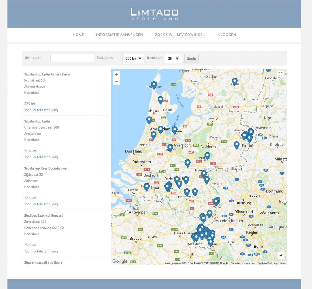 Limtaco Nederland Website