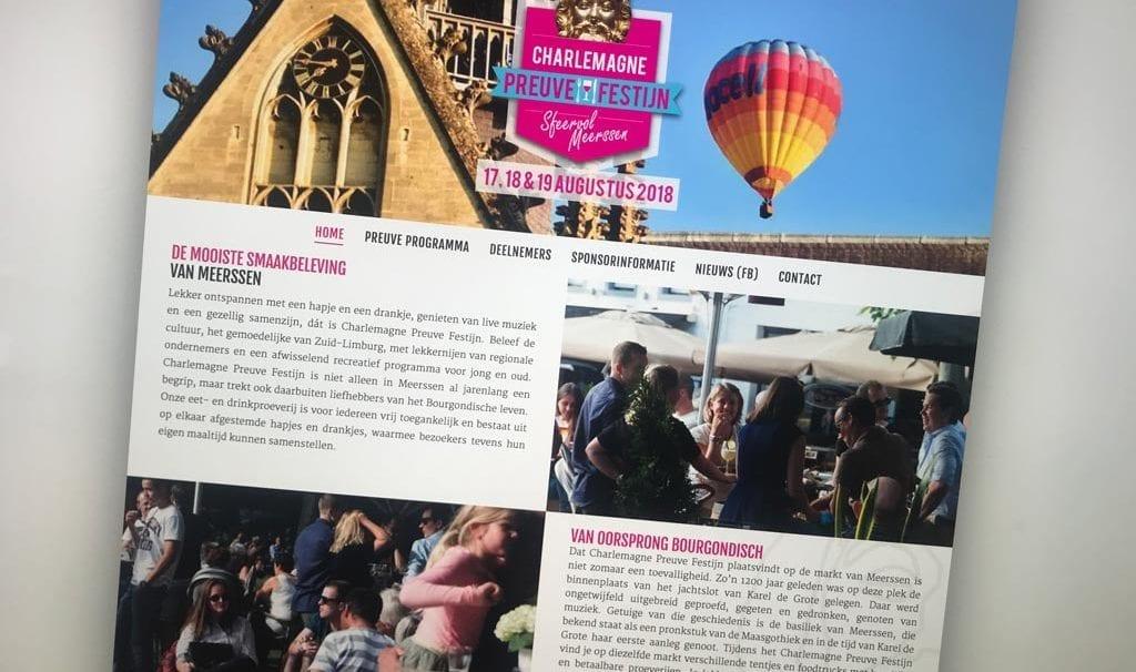 Website Charlemagne Preuvefestijn